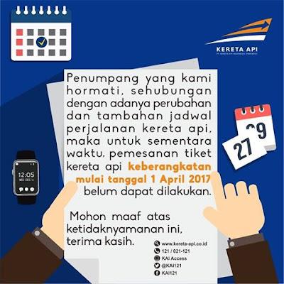 Perubahan Jadwal Perjalanan Kereta Api (Gapeka) 2017 Mulai April
