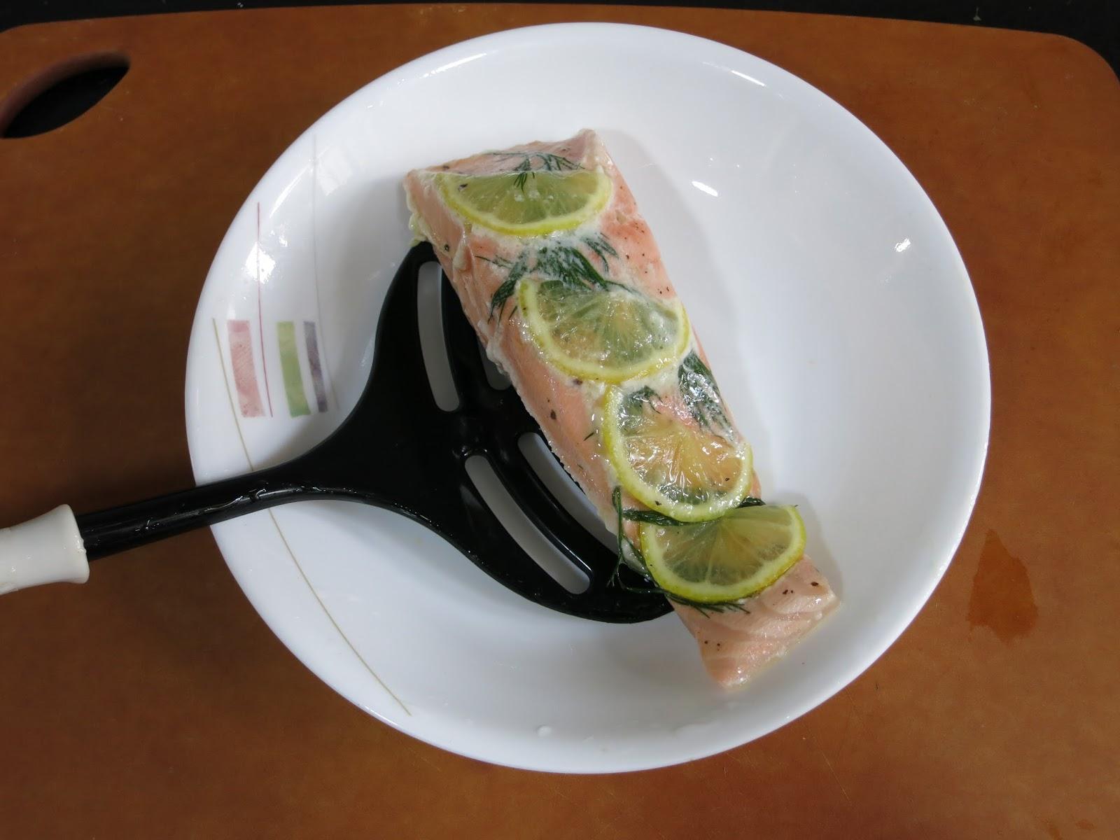 姊妹食譜交換。週記: 慢煮香草三文魚配希臘乳酪醬 - Nolwenn & Cole Slow-Cooking Tower 慢煮器