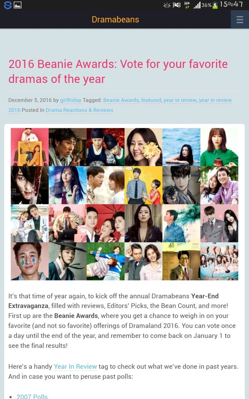 Dramabeans and Beannie Awards 2016