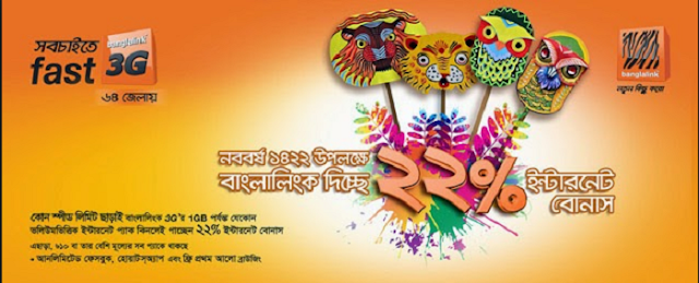 Banglalink Pohela Boishakh Internet Offer 2017