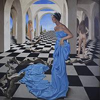 Julio Visquerra pintura figurativa surrealista