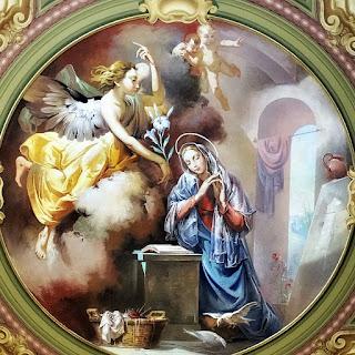 Pintura de Aldo Locatelli na Catedral de Santa Maria (RS) - Prece de Maria