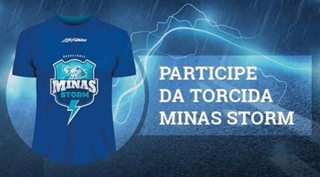 """Camisa da """"Torcida Minas Storm"""" [Reprodução/Minas]"""