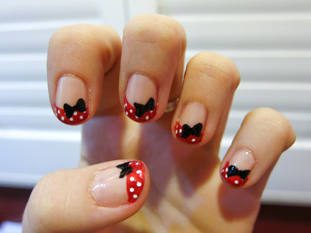 disney nail art building