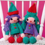 http://www.topcrochetpatterns.com/free-crochet-patterns/roxie-and-lola-the-elves