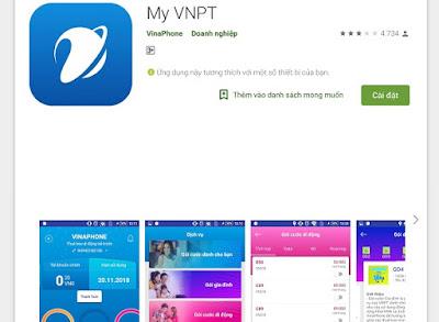 Ứng dụng My VNPT dành cho thuê bao VinaPhone