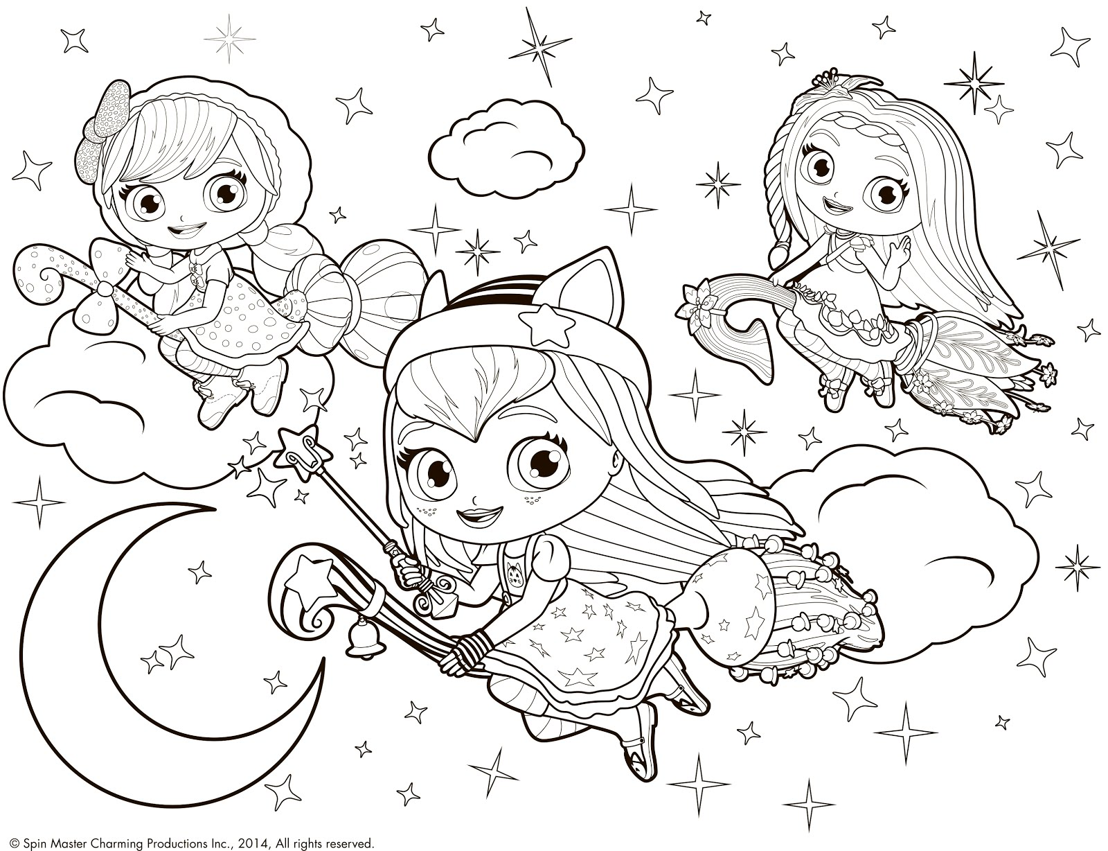 Little charmers coloring pages photo 34