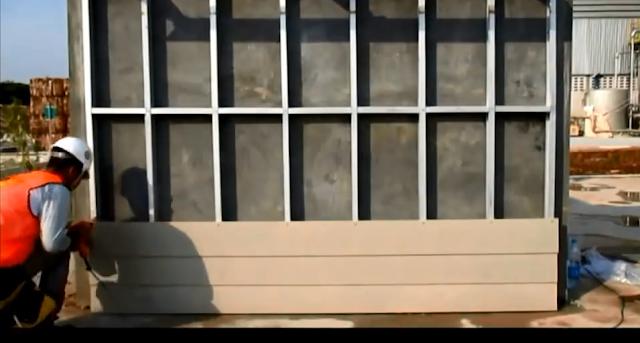 thi công vách ngăn ngoài trời bằng tấm cemboard thái lan