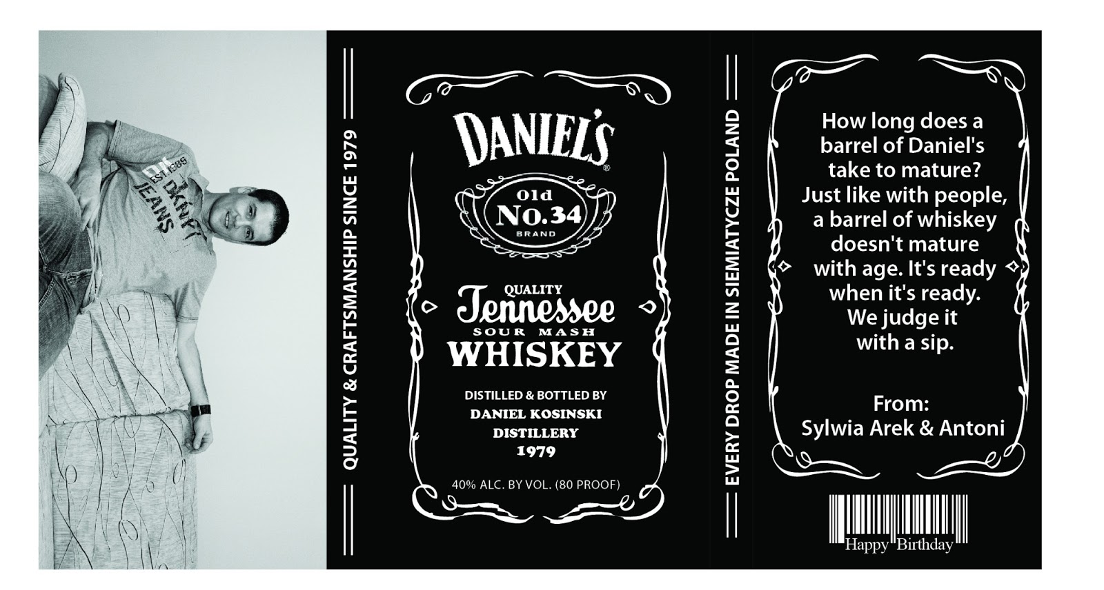 It's just a picture of Ridiculous Jack Daniels Label Template