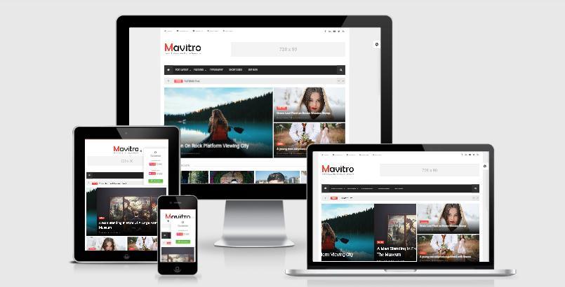 Mavitro Magazine Blogger Template Free Download