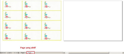fungsi page dalam coreldraw, cara mengganti page 1 ke page 2 di coreldraw