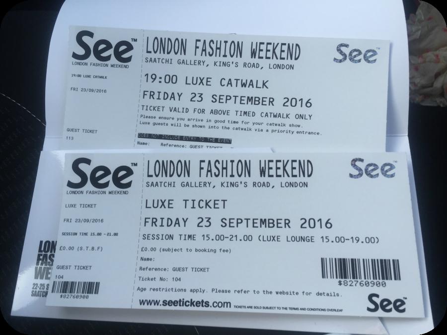 london fashion weekend luxe tickets