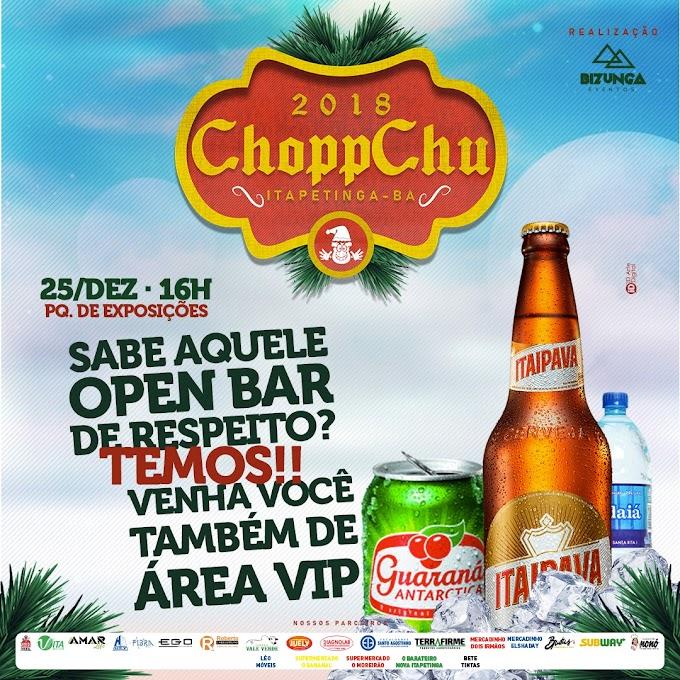 CHOPP CHU 2018 | Dia 25, no Parque de Exposição em Itapetinga