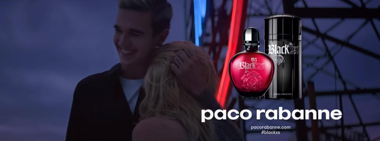 Nome modello e modella Pubblicità Paco Rabanne Black XS 2016 con Foto