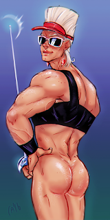 polpol pinup jean pierre polnareff jjba stardust crusaders bare ass bottomless bubble butt