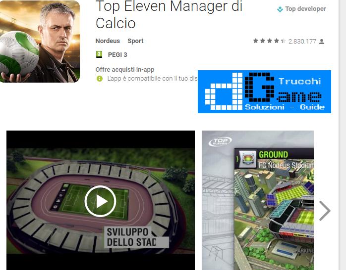 Trucchi Top Eleven Manager di Calcio Mod Apk Android v4.0.3