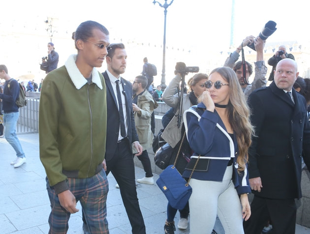 Le chanteur belge Stromae  à la Fashion Week de Paris