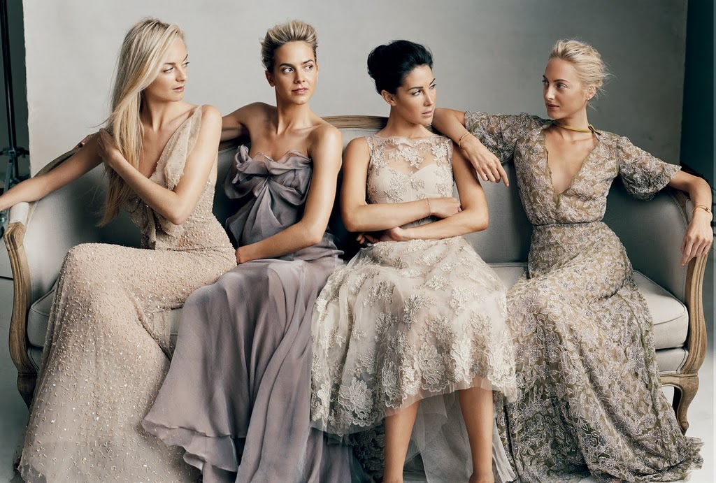 Fashion Beauty Glamour: Wedding : Neutral bridesmaids dresses