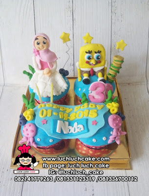 Cupcake Ulang Tahun Tema Spongebob
