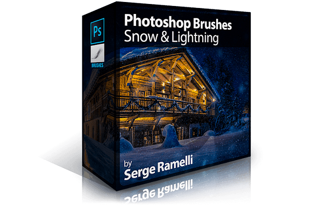 Photoshop Brushes: Snow & Lightning