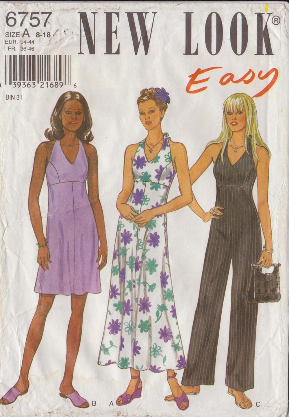 Fashion Halter Top Dress Patterns