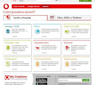 sito Assistenza Vodafone
