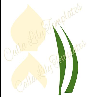 Calla lily templates