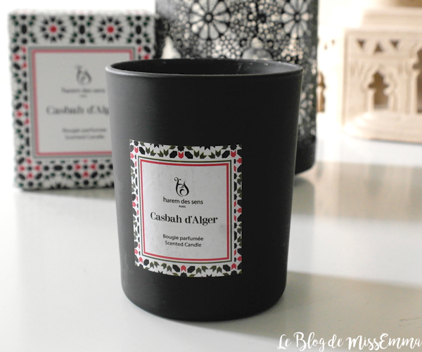 Bougie parfumée Casbah d'Alger • Harem des Sens • Le Blog de MissEmma