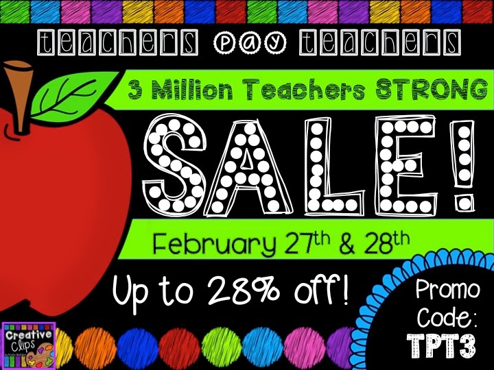 TeachersPayTeachers sale 3 million teachers ad