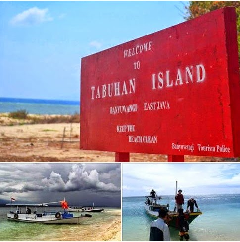 naik perahu ke pulau tabuhan