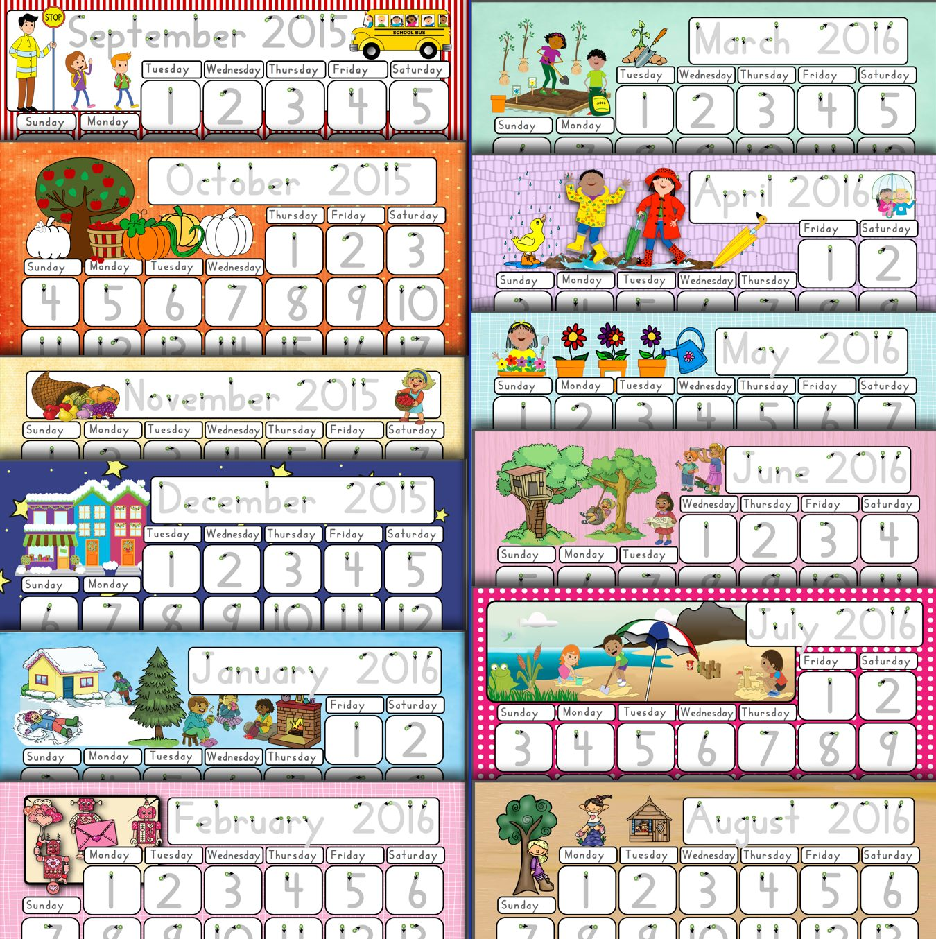 Capitals First By Print Path Using Calendars For Number Fluency And Handwriting Skills Pre K