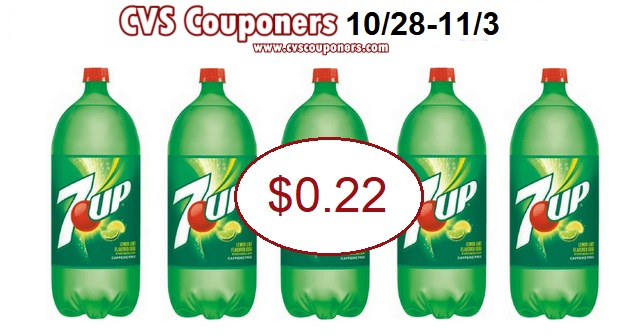 only 0.22 for 7up 2l at cvs