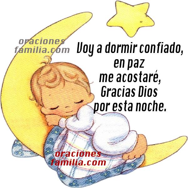 Oración para antes de dormir, linda oracion cristiana al acostarse en la noche con niño en luna