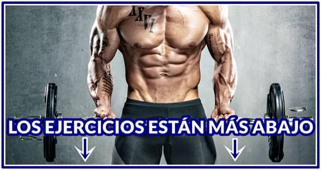 Rutina de ejercicios efectiva para ganar masa muscular en hombres