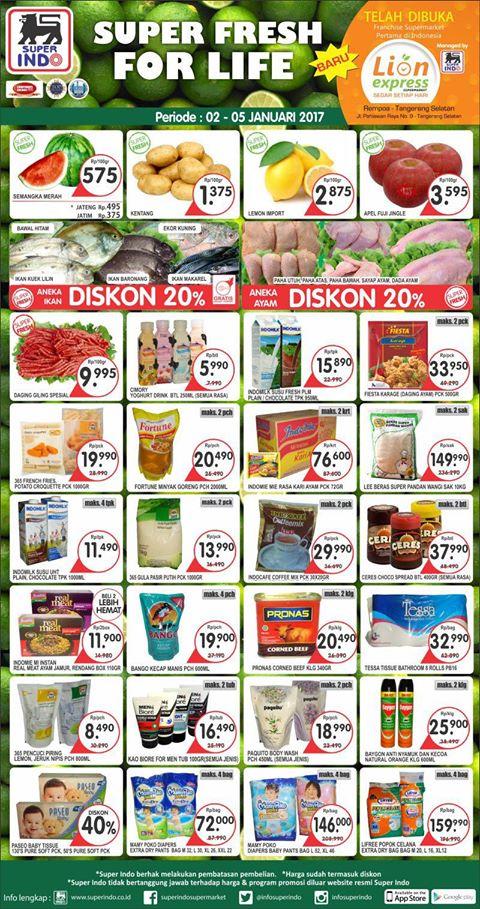 Katalog Harga Promo Superindo Awal Tahun 2 – 5 Januari 2017