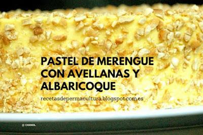 Pastel de Merengue con Avellanas