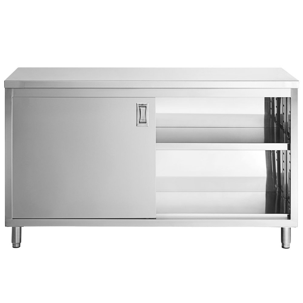 Stainless Steel Kitchen Cabinet with Sliding Door