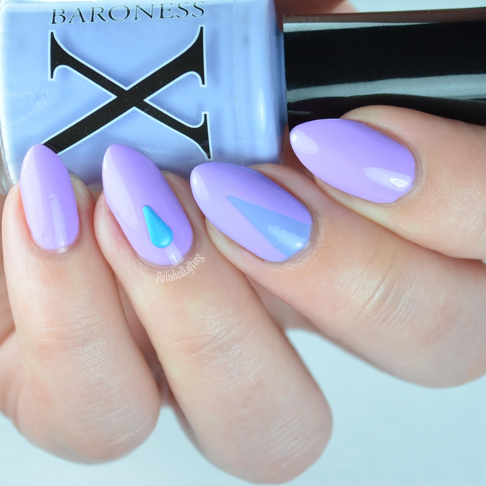 Polished Lifting: Baroness X Pastel Geometric Nail Art & Vinyl ...