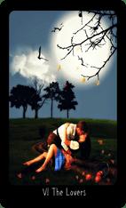 The Lovers tarot card image