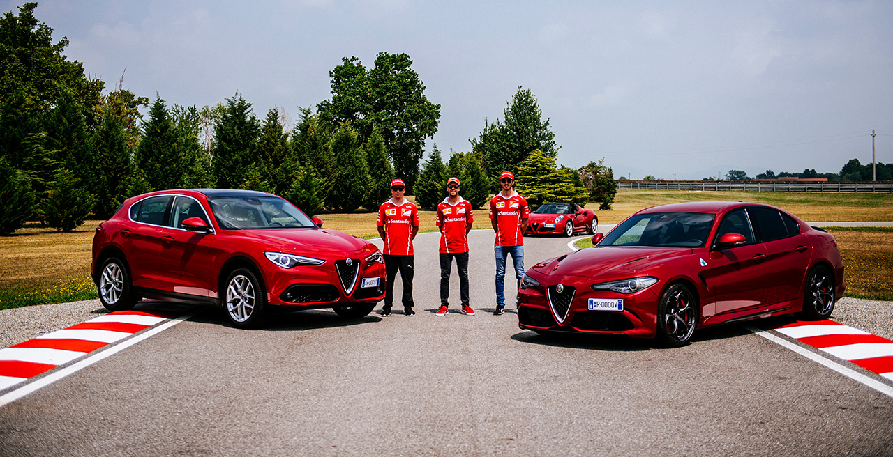 H Alfa Romeo Giulia και οι τρεις οδηγοί της Ferrari σε εντυπωσιακό βίντεο
