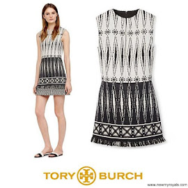 Queen Maxima Style TORY BURCH Savora Graphic Jacquard Tweed Tunic