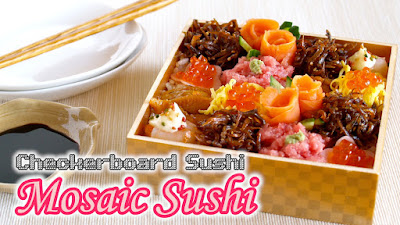 Mosaic sushi checkerboard sushi easy photogenic video recipe mosaic sushi forumfinder Image collections