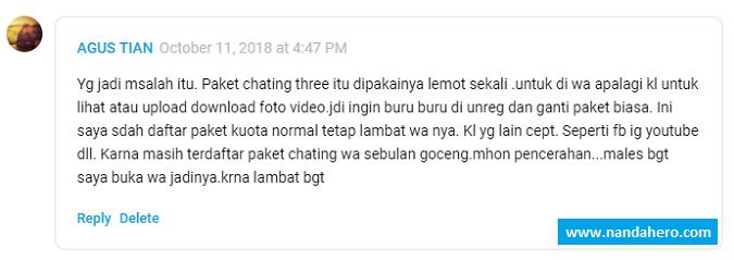 Daftar Paket Chatting Tri