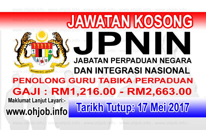 Jawatan Kerja Kosong JPNIN - Jabatan Perpaduan Negara Dan Integrasi Nasional logo www.ohjob.info mei 2017