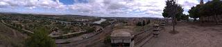 Panorámica del Ebro y Tudela desde lo alto