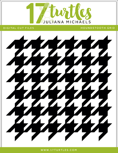Houndstooth Grid Free Digital Cut File by Juliana Michaels 17turtles.com
