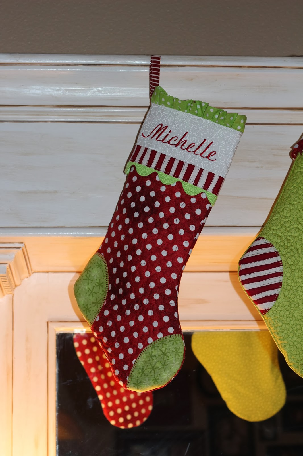 Confessions Of A Project Aholic Lime Green And Red Christmas Stockings 59