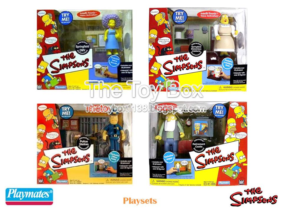 The Toy Box The Simpsons AKA World of Springfield Playmates Toys