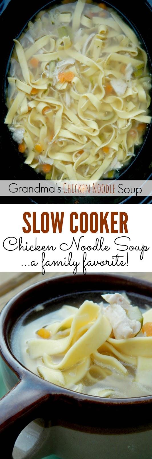 grandma's slow cooker chicken noodle soup (sweetandsavoryfood.com)