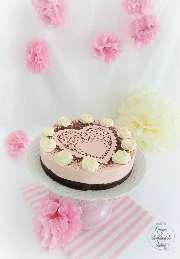 tarta-fresa-strawberry-cake-nobake-cheesecake-sin-horno-facil-easy
